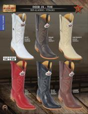 Los Altos 3X-Toe Genuine Deer Mens Western Cowboy Boots Diff Colors/Sizes