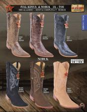 Los Altos 3X-Toe Genuine Nobuk/Leather Mens Western Cowboy Boot DiffColor/Size