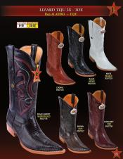 Los Altos Mens 3X Toe Genuine Teju Lizard Cowboy Western Boots Diff Colors