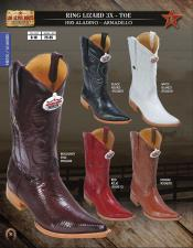 Los Altos 3X-Toe Genuine Ring Lizard Mens Western Cowboy Boot DiffColors/Sizes