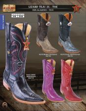 Los Altos 3X-Toe Genuine Lizard Teju Mens Western Cowboy Boot DiffColors/Sizes