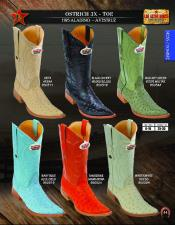 Los Altos 3X Toe Genuine Ostrich  Western Cowboy Boots Diff Colors/Sizes