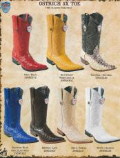 Genuine Ostrich Mens Cowboy Western Boots Diff Colors/Sizes
