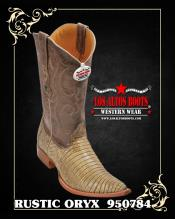Lizard Teju Mens Cowboy Boot ~ botines para hombre by Los Altos