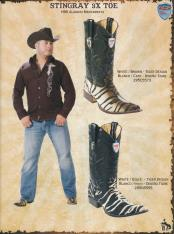 3X Toe Stingray mantarraya skin Mens Cowboy Western Boots Diff Colors/Sizes