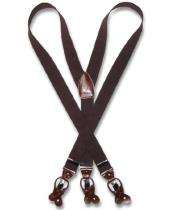 Brown Suspenders Y Shape