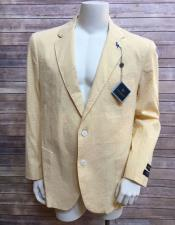 Mens Yellow ~ Canary 2 buttons blazer ~ Sport coat jacket