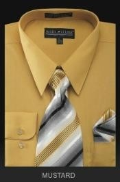 Dress Shirt - PREMIUM TIE - Gold~Yellow~Mustard