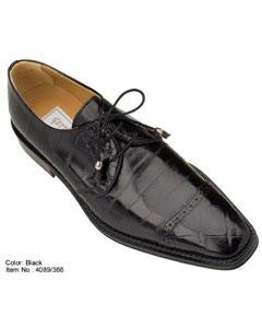 Black Genuine Alligator/Eel Shoes