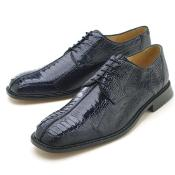 Oxfords Navy Ostrich/Lizard Lace-Up