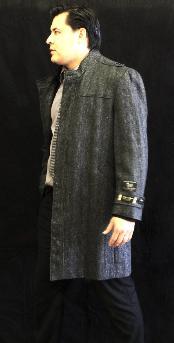 Coat Charcoal Pea-Coat $175