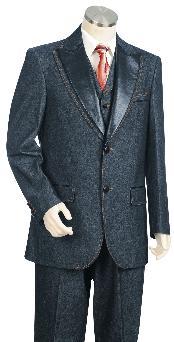 Navy 3 Button Suit