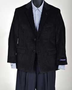Corduroy Sport Coat- Black