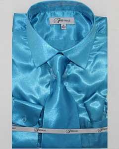 Shiny Luxurious Shirt turquoise