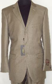 Designer 2-Button Shiny Taupe