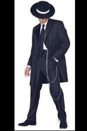 SKU# JOSMU-106 Men's Tuxedo Fashion Formal Black Longer Fashion Zoot Suit