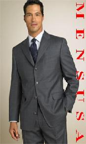 SKU NNM221 absolutely stunning HW0074 Loriano UMO Charcoal Gray Window Pane 4 Buttons Notch Design 169