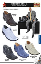 SKU#CAM8991 Full Genuine caiman ~ alligator Men's Dressy Shoe Brown, White, Black, Blue Jean, Cream ~ Ivory ~ Off White