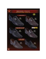 Skin Lizard Slip Belly/Teju - Stylish Dress Loafer Mens Genuine caiman