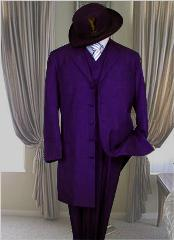 Long Dark Purple Fashion Zoot Suit
