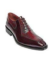 Ostrich Top Dress Shoe by Belvedere Red Dress Shoe Dino