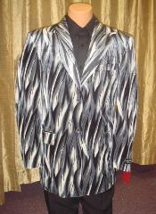 Flame Jacket/Blazer in Black/Gray