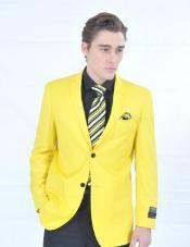 Fitted Premium Blazer Yellow
