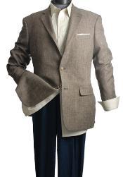 Coat 2-Button Slim-Cut Brown