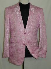 Pink Silky Paisley Blazer