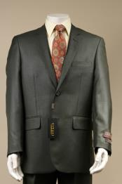 SKU#6Y7U Men's 2 Button patterned Mini Weave Patterned Shiny Sharkskin Suit Charcoal Gray