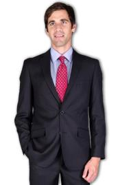Slim Fit Black Tonal 2-Button Suit
