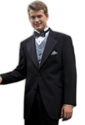 Package Super 140S Wool 2 Button Tuxedo Suit + Your choice of Any Color Vest Shirt Tie