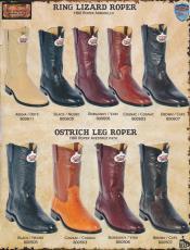 West Roper-Toe Genuine Lizard/Ostrich