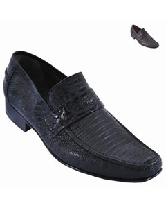 Lizard Skin Loafer Black