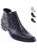 Lizard Dress Boot Black