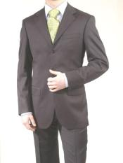 SKU PQL946 Mens Charcoal Gray Super Wool 3 Button Dress Business Suits 149