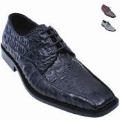 Alligator Oxford Shoe Black