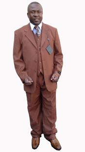 Button Solid Cognac~Rust affordable