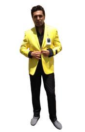 Two Button Blazer Yellow