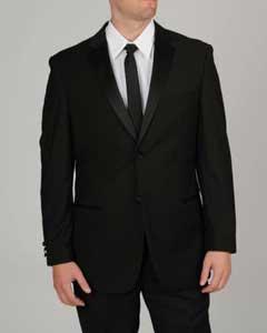 SKU#EH6200 Tapered Leg Lower Rise Pants & Get Skinny Men's Slim Fit Black Tuxedo