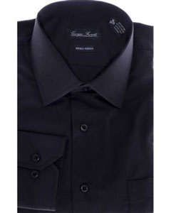 Modern-fit Dress Shirt Black