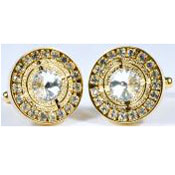 Plated Round Cufflinks Set