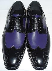 Dress Shoe in Purple and Black