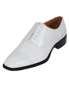 Mens White Oxford Dress Shoe