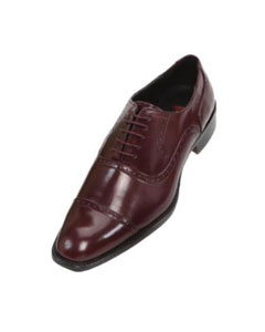 Mens Burgundy ~ Maroon ~ Wine Color Oxford Dress Shoe