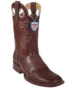 SKU#BT7644 Wild West Cognac Shark Wild Rodeo Toe Boots
