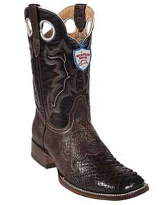 SKU#LS6743 Wild West Brown Python ~ Snake Wild Rodeo Toe Boots