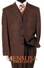Brown Pinstripe suits