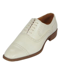 Oxford Dress Shoe Available in Ivory, Cream & Off White Colors