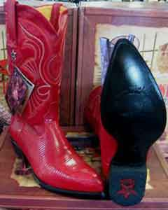 Altos Red Genuine Lizard